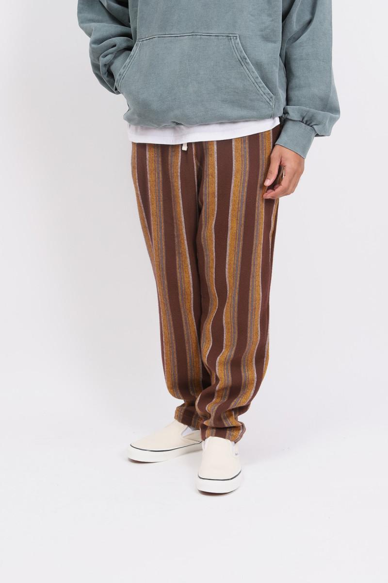Active lazy pants flannel Vertical stripe