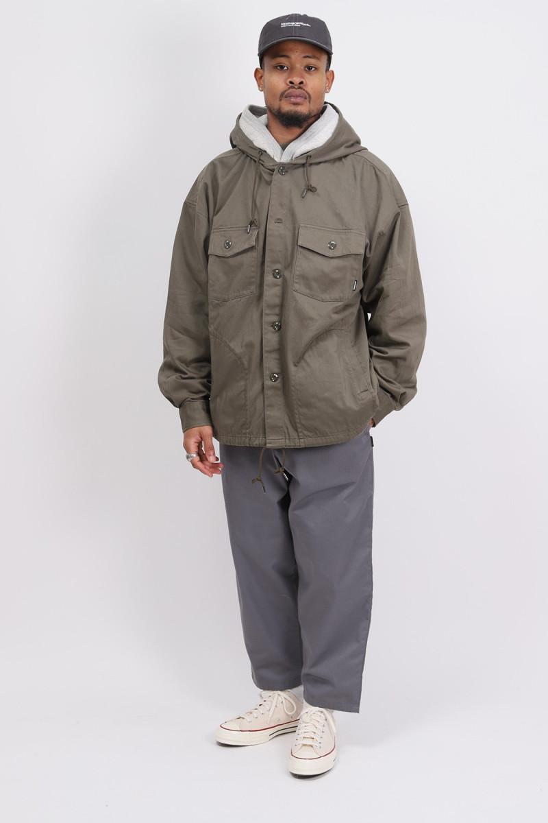 Hooded / c-shirt . ls Olive drab
