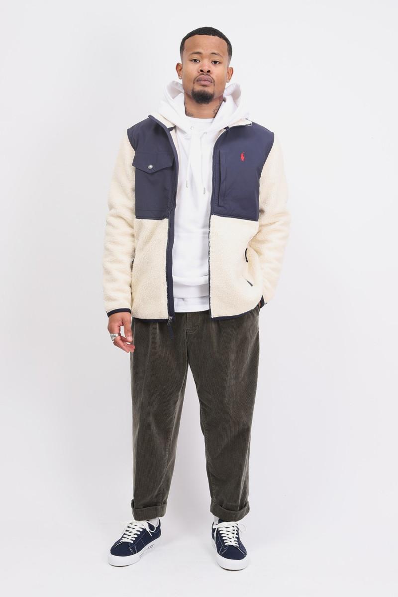 Sherpa fleece jacket White