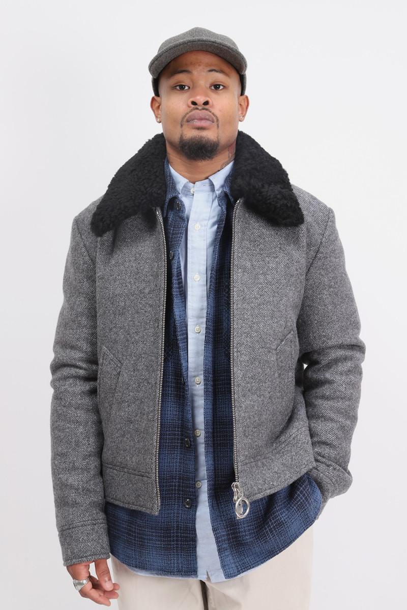 Jacket sherling collar ami de Coeur heather grey