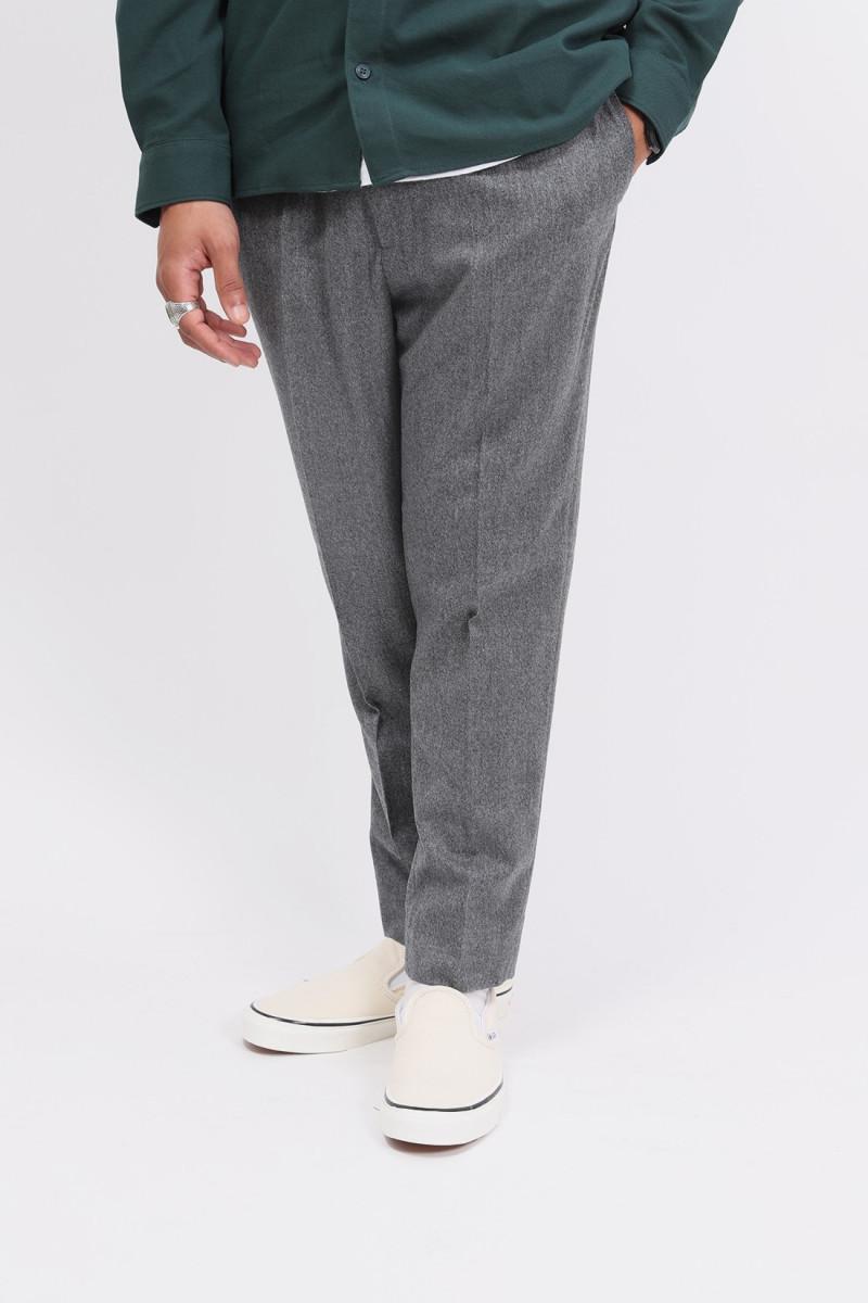 Pantalon cropped elastique Gris