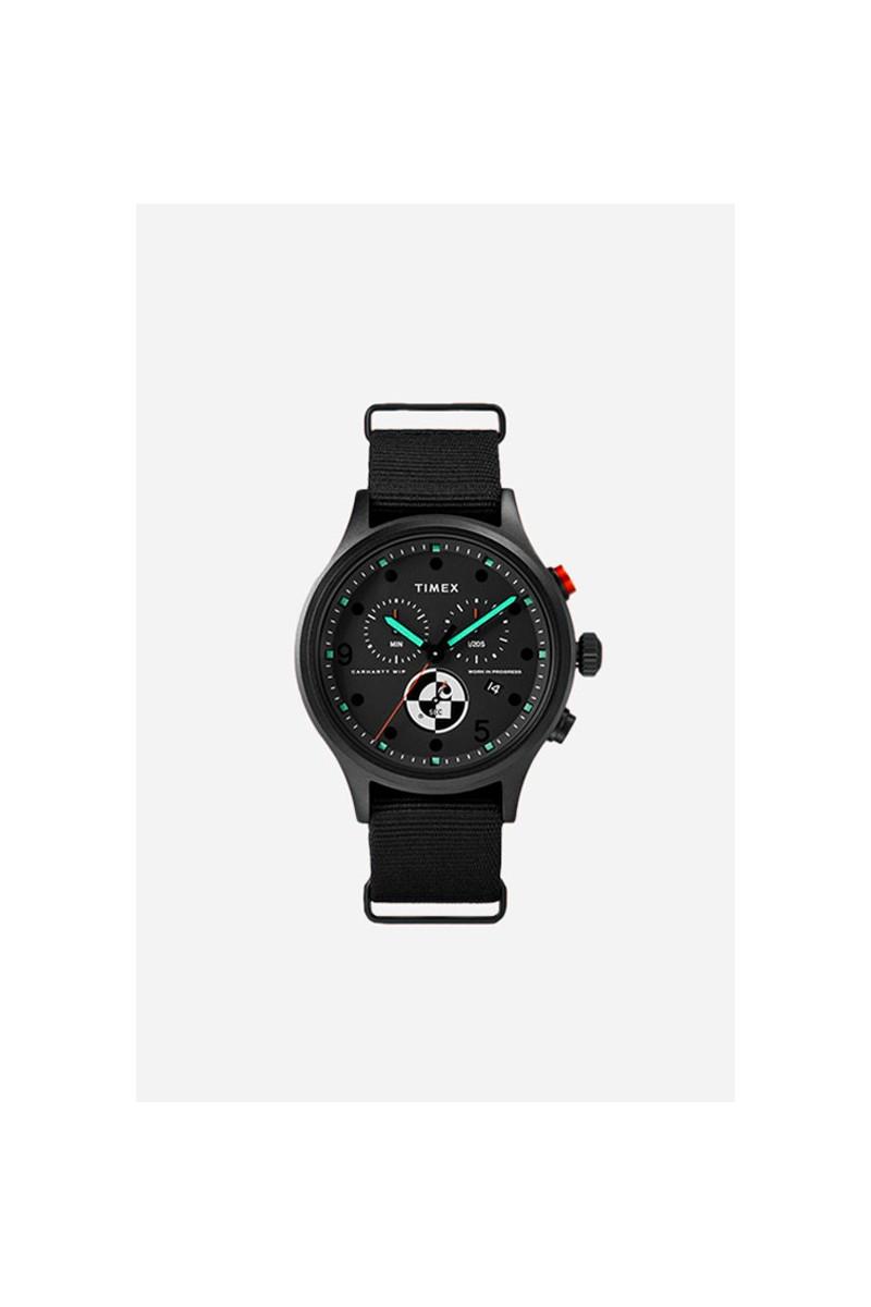 Timex x range c chronograph Black/orange