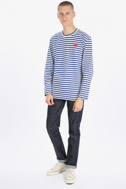 Play striped t-shirt Blue white