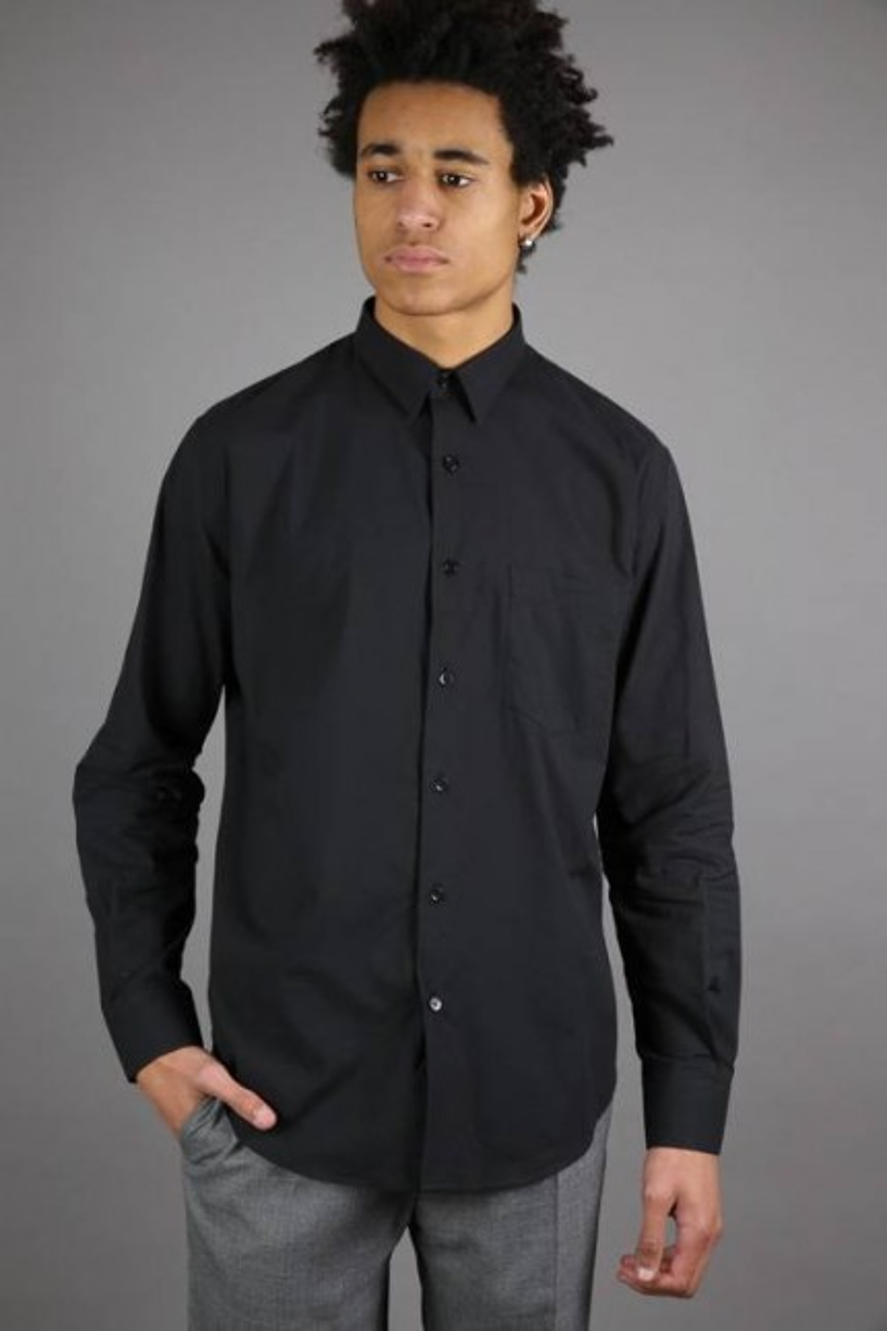 Chemise large Noir