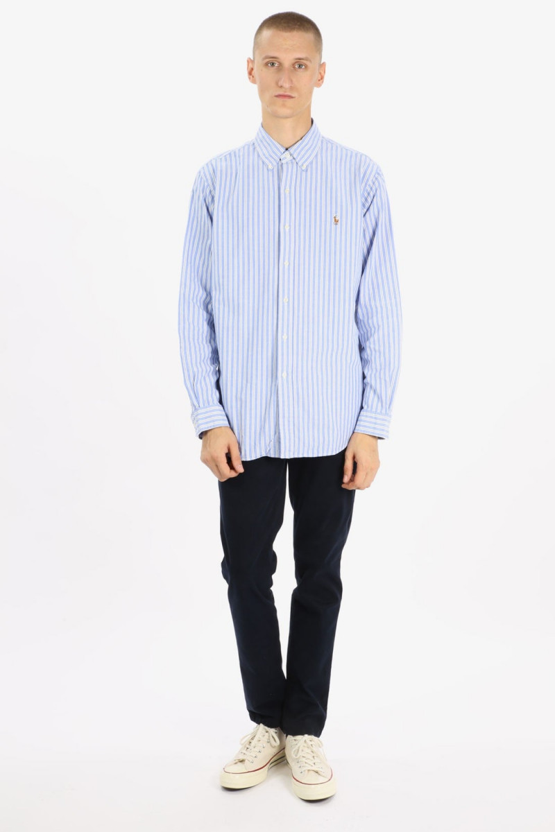 Oxford big stripe shirt Blue