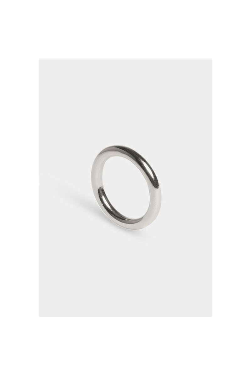 Ring facet round Silver