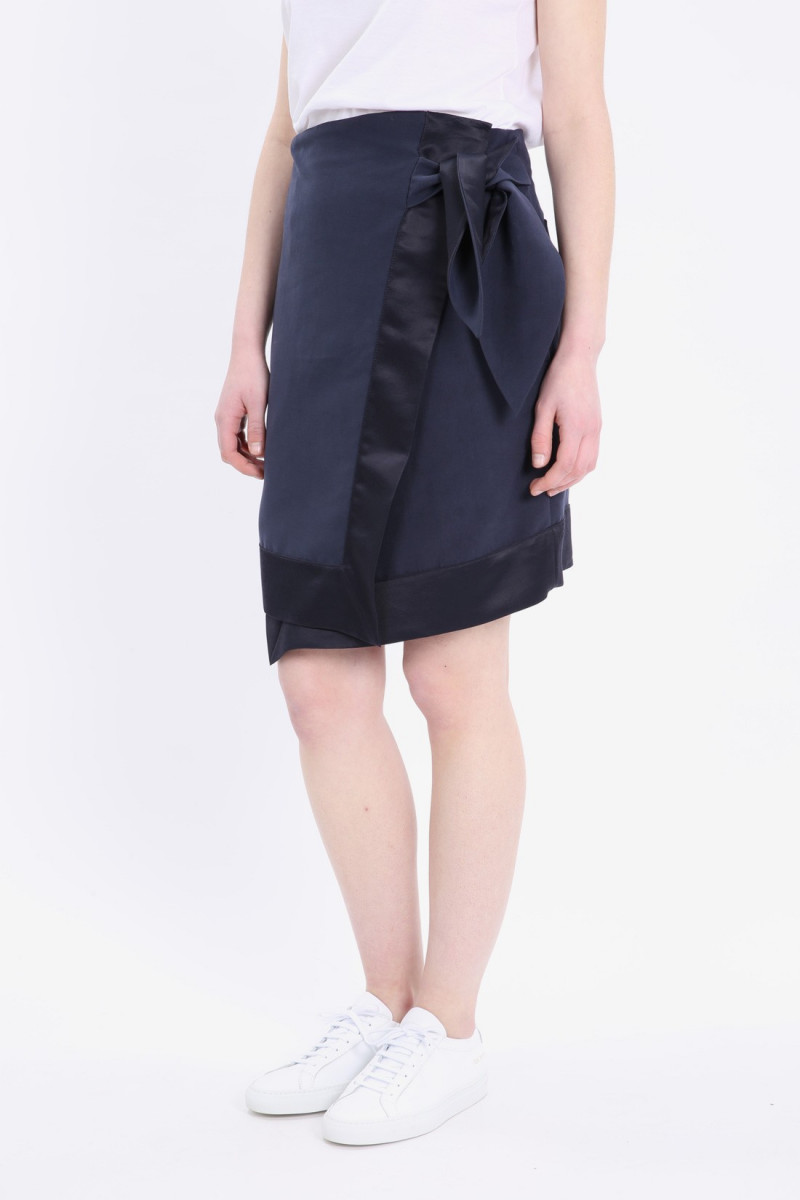 Plain andrea wrap skirt Dark navy