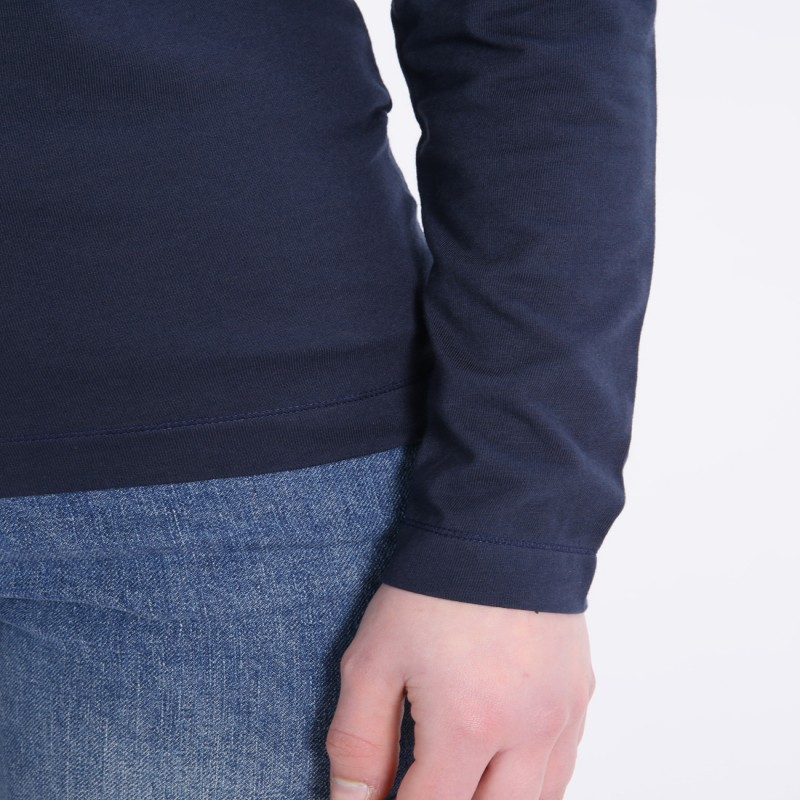 COMME DES GARCONS PLAY PLAY V-NECK COTTON PULLOVER NAVY