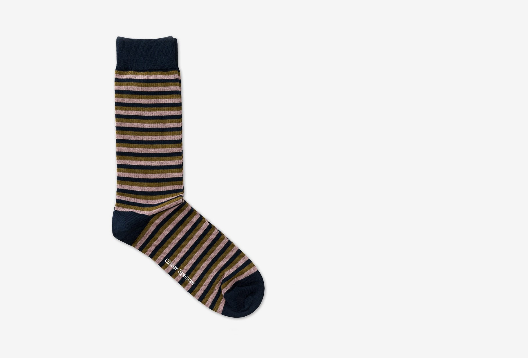 OLIVER SPENCER / Miller socks briggs Navy multi