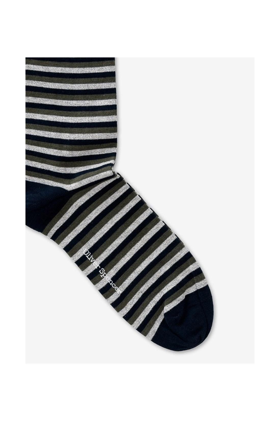OLIVER SPENCER / Miller sock briggs Green multi