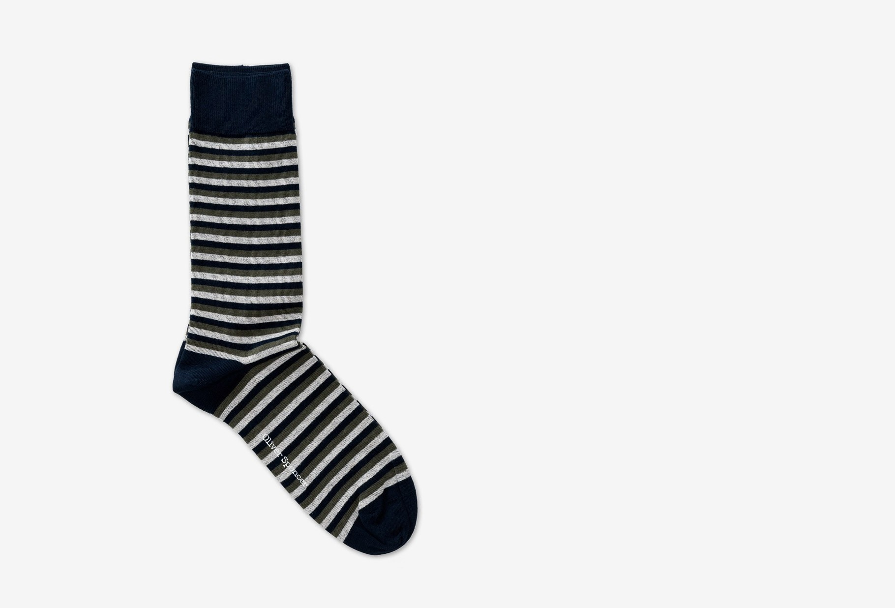 OLIVER SPENCER / Miller socks briggs Green multi