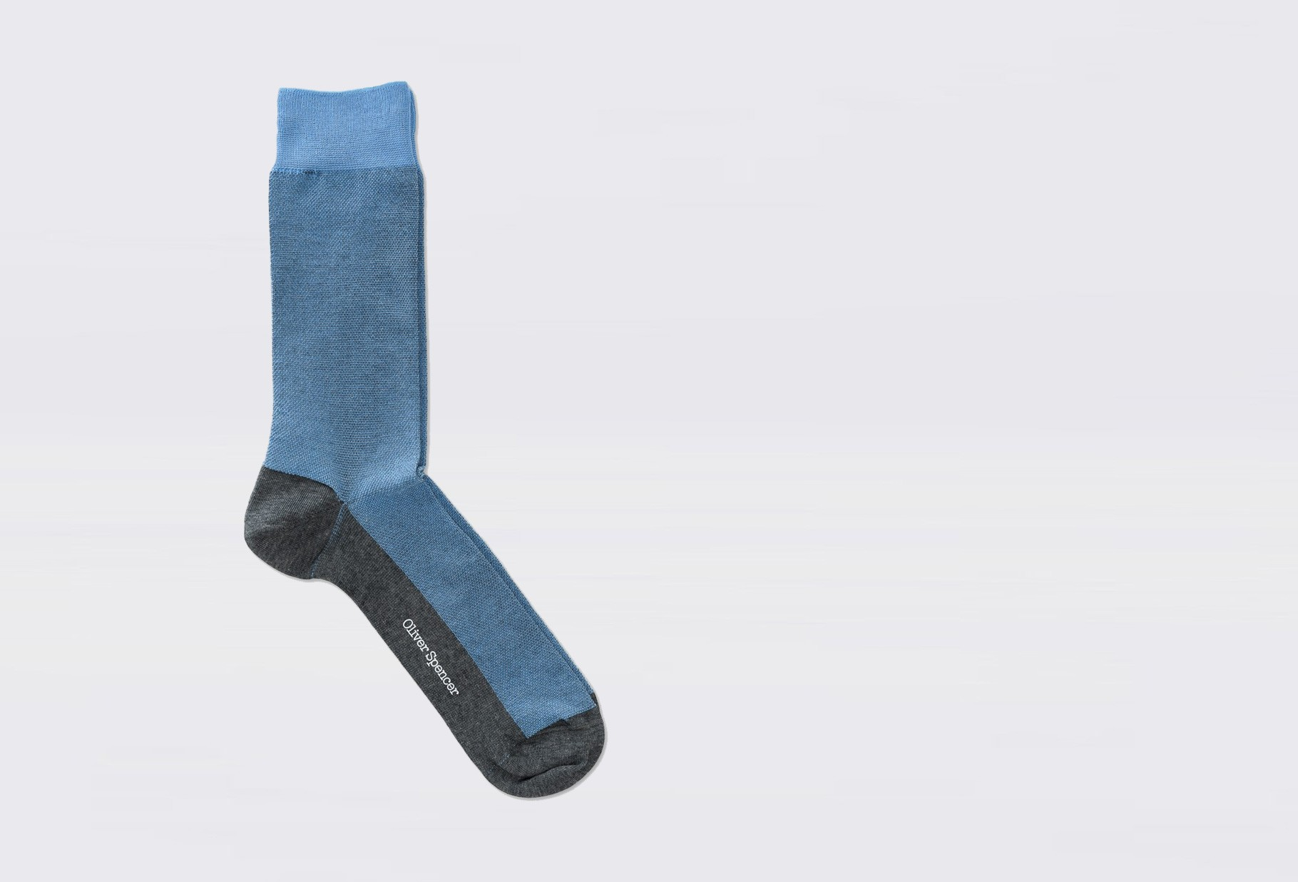 OLIVER SPENCER / Miller socks henn Sky blue