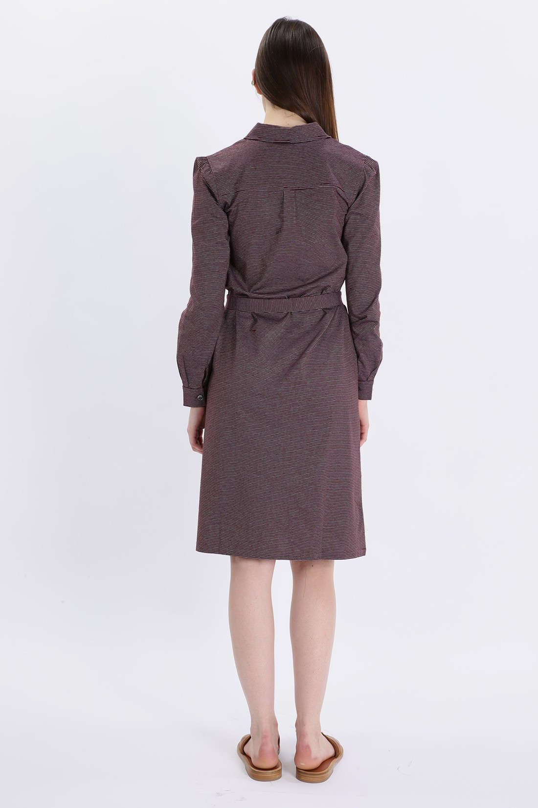A.P.C. FOR WOMAN / Robe coco Lie de vin