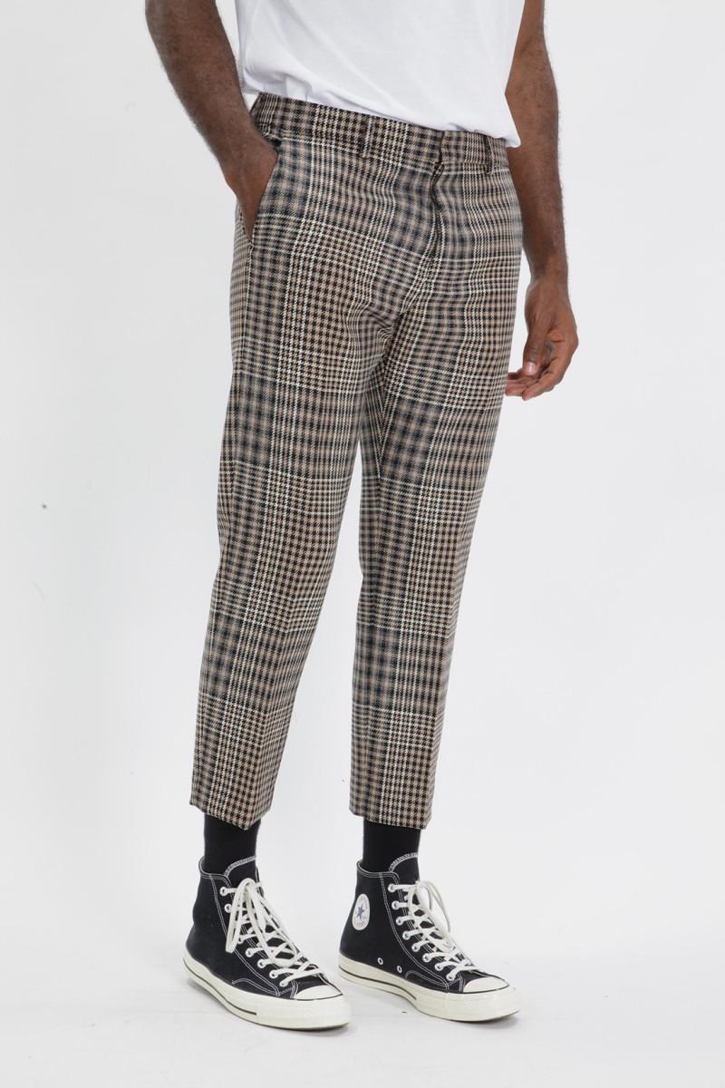 Pantalon cropped Black beige