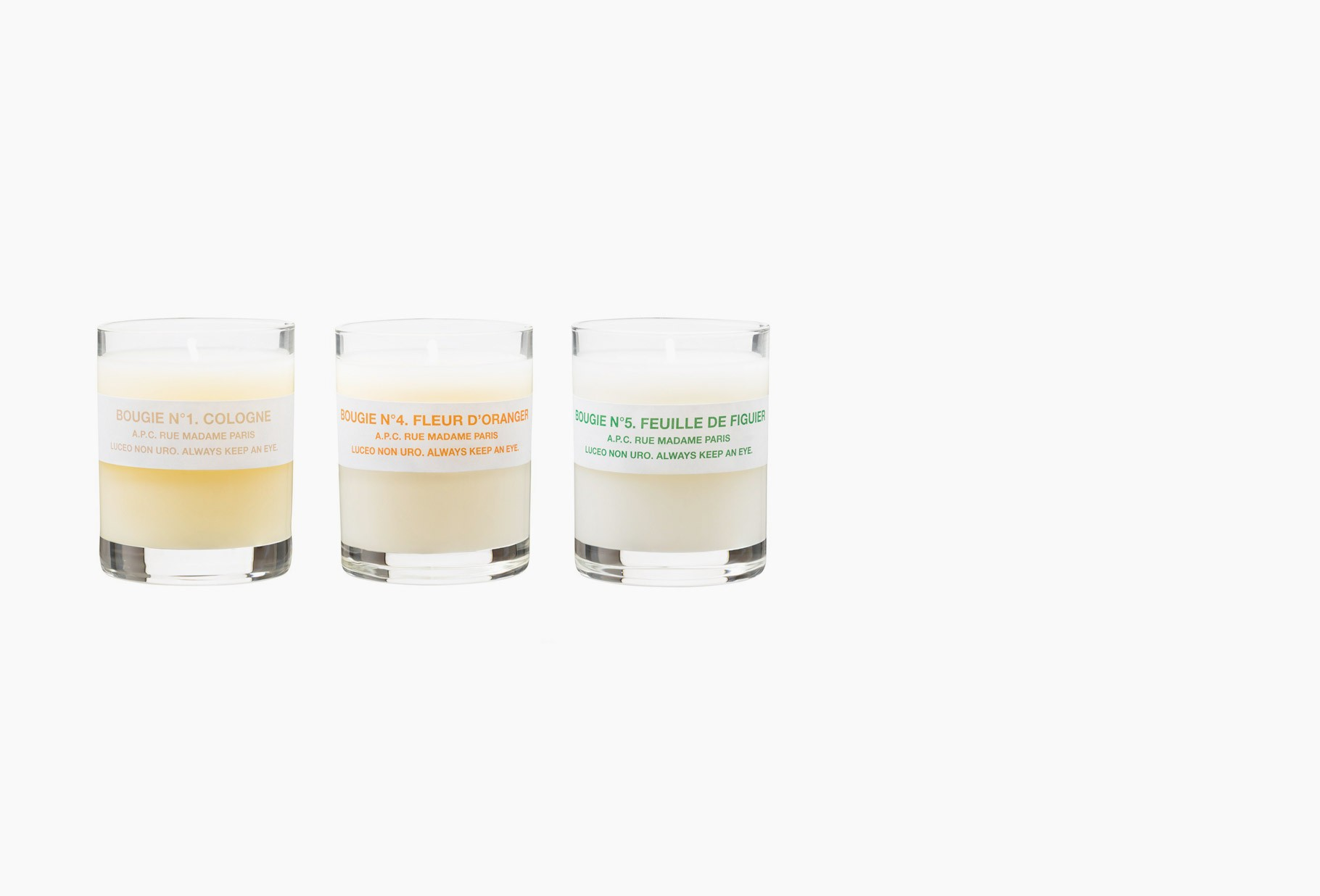 A.P.C. / Coffret petites bougies 1.4.5. Centon
