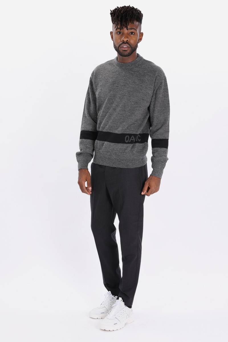G.i. sweater knitted Grey black 031