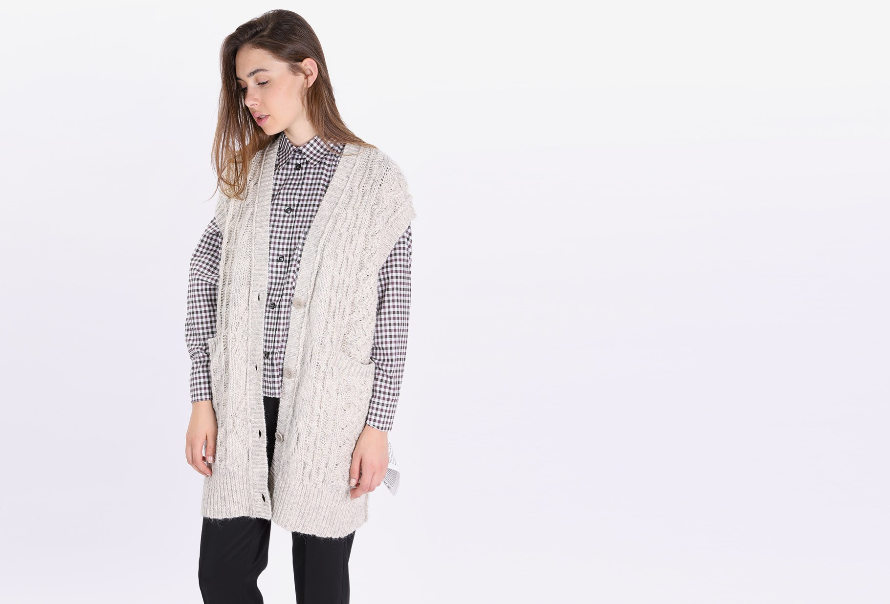 MM6 MAISON MARGIELA FOR WOMAN / Knitted dress Heather grey