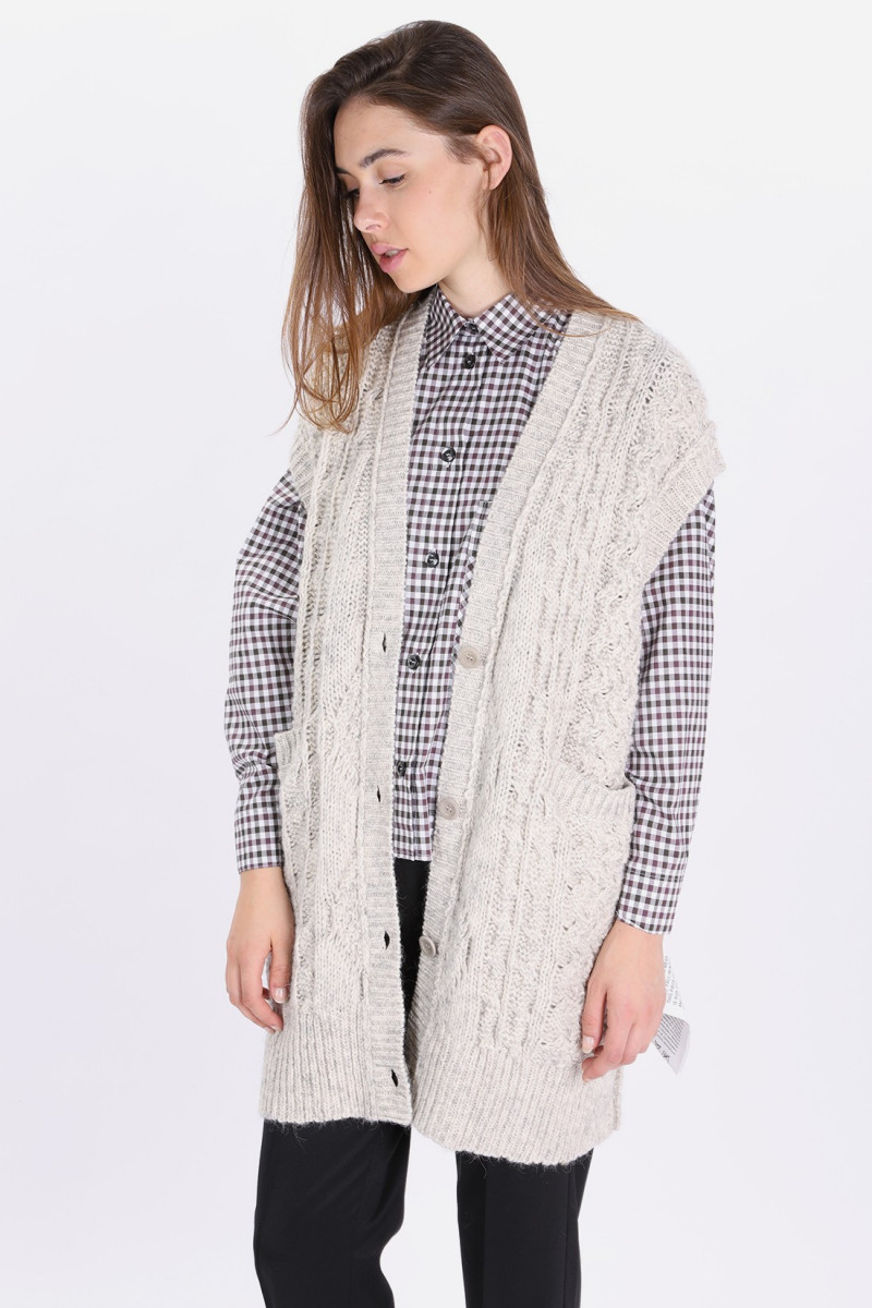 S52gp0033 knitted dress Heather grey