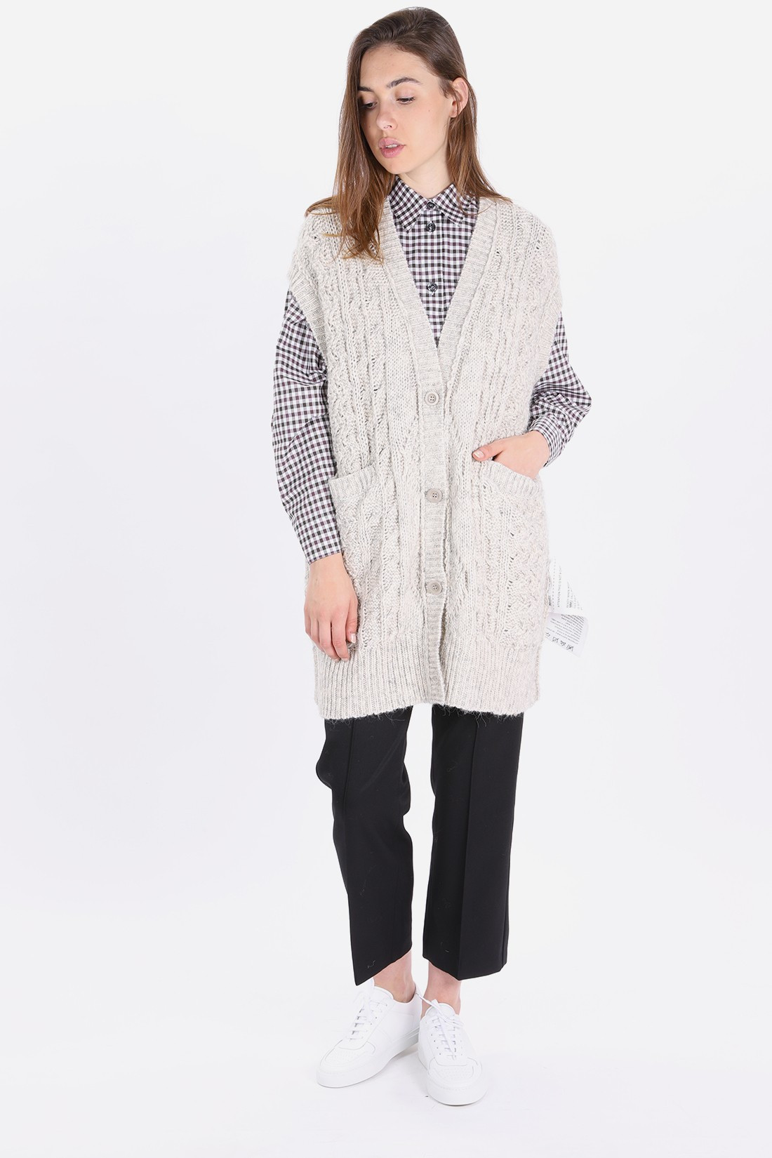 MM6 MAISON MARGIELA FOR WOMAN / S52gp0033 knitted dress Heather grey