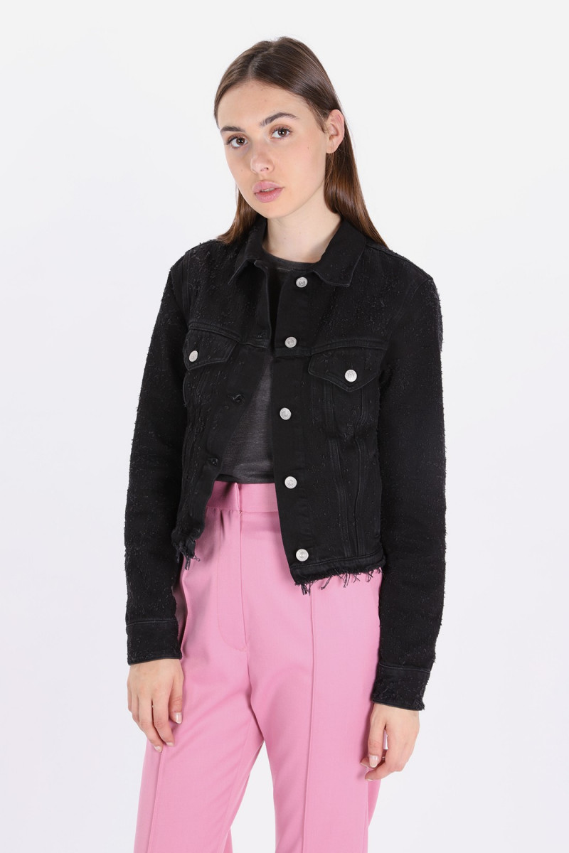 S32am0290 denim jacket Black