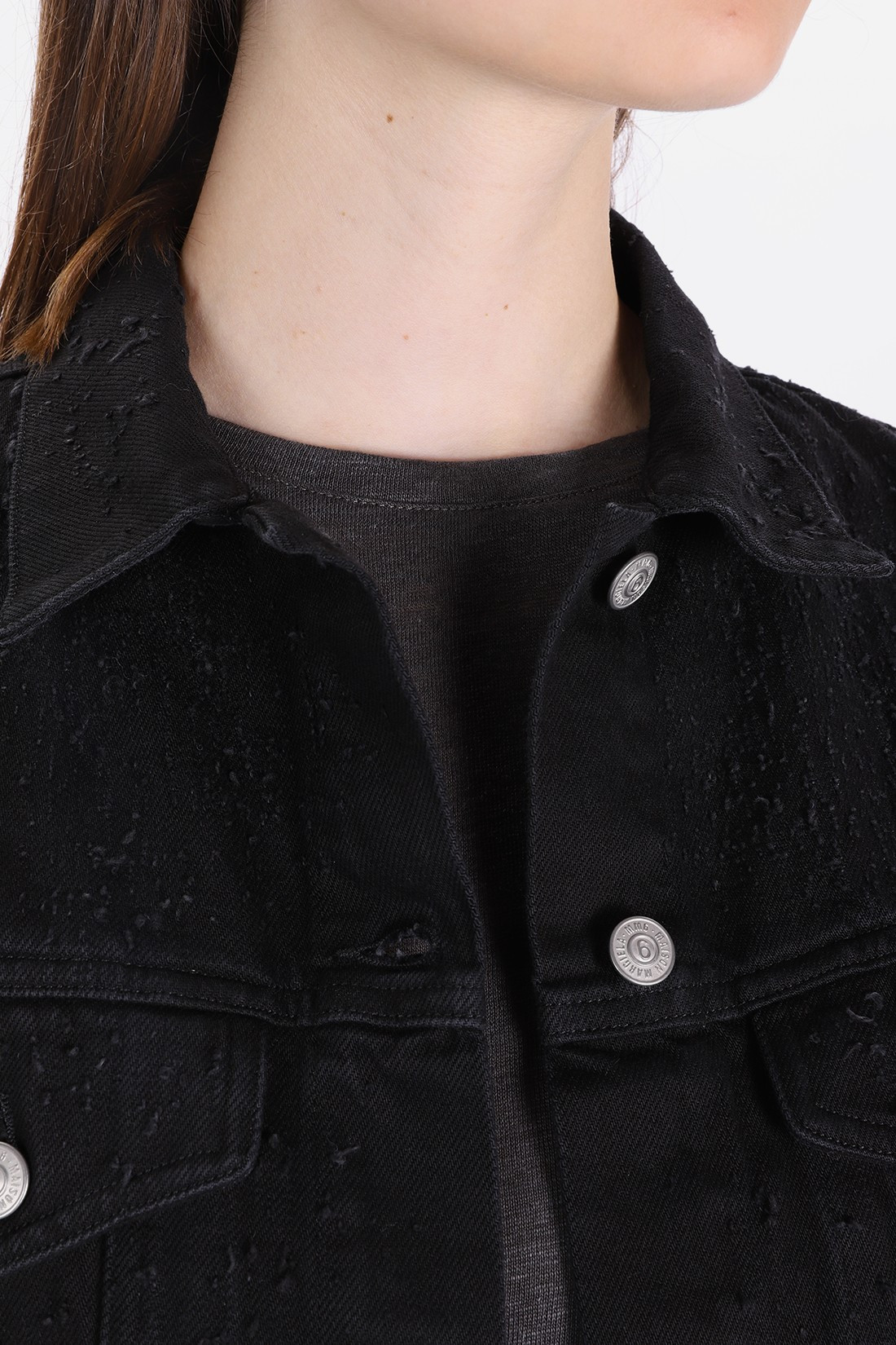 / S32am0290 denim jacket Black