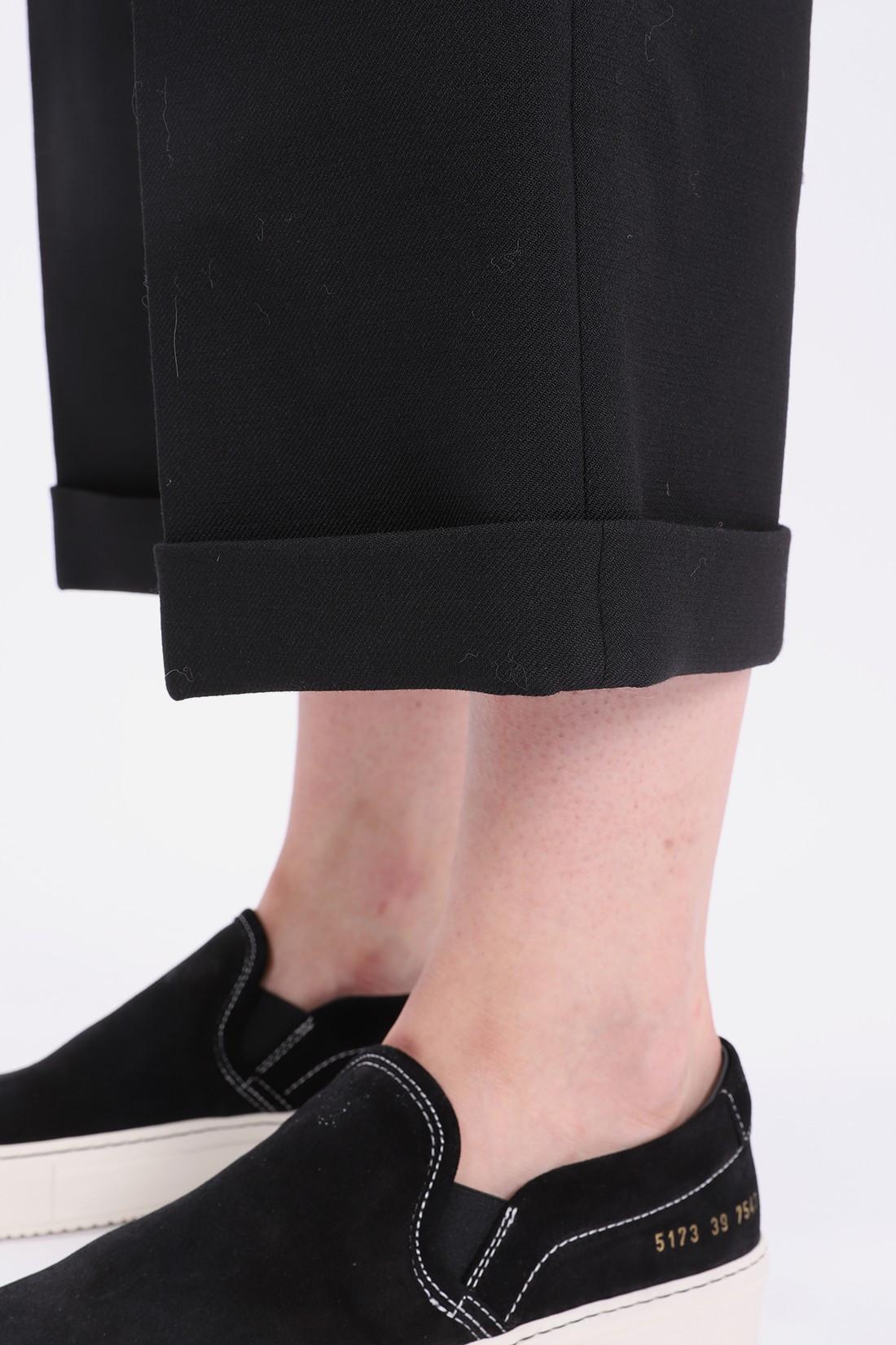 MM6 MAISON MARGIELA FOR WOMAN / S32ka0542 wide leg trouser Black