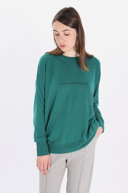 S32ha0507 oversized pull-over Green