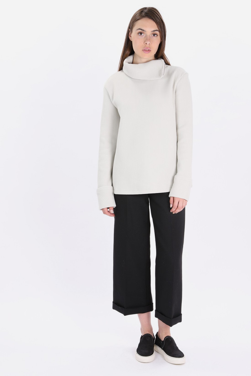 S32nc0552 zipped roll-neck Off white