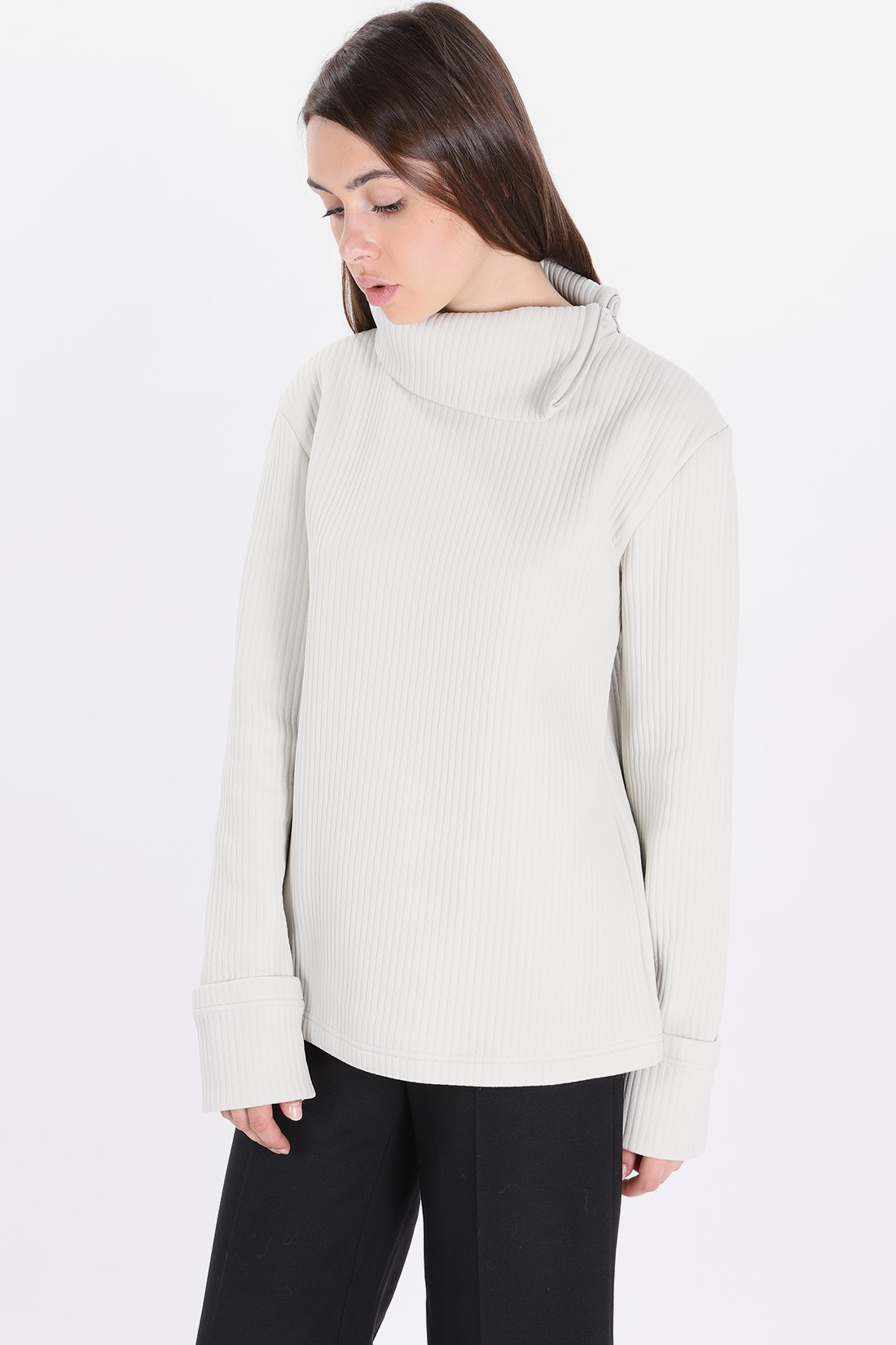 MM6 MAISON MARGIELA / S32nc0552 zipped roll-neck Off white