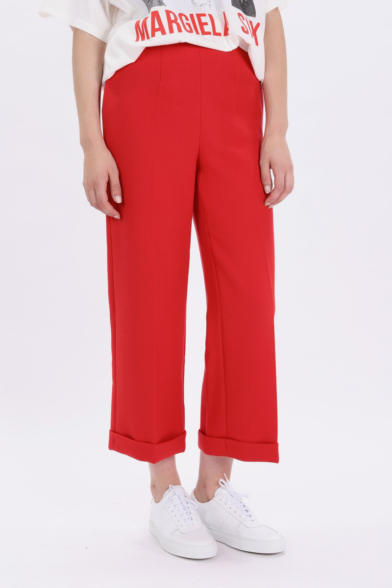 S32ka0542 wide leg trouser Red