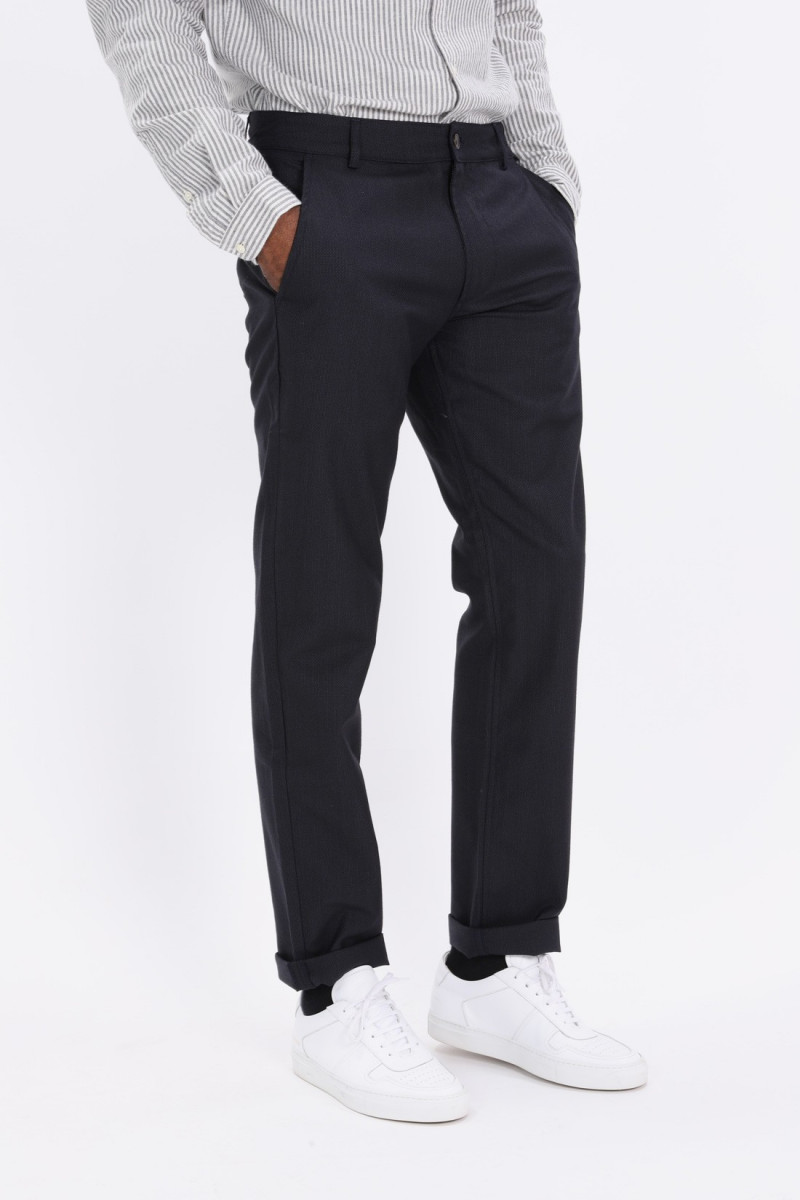 Aston pant cotton wool mix Charcoal
