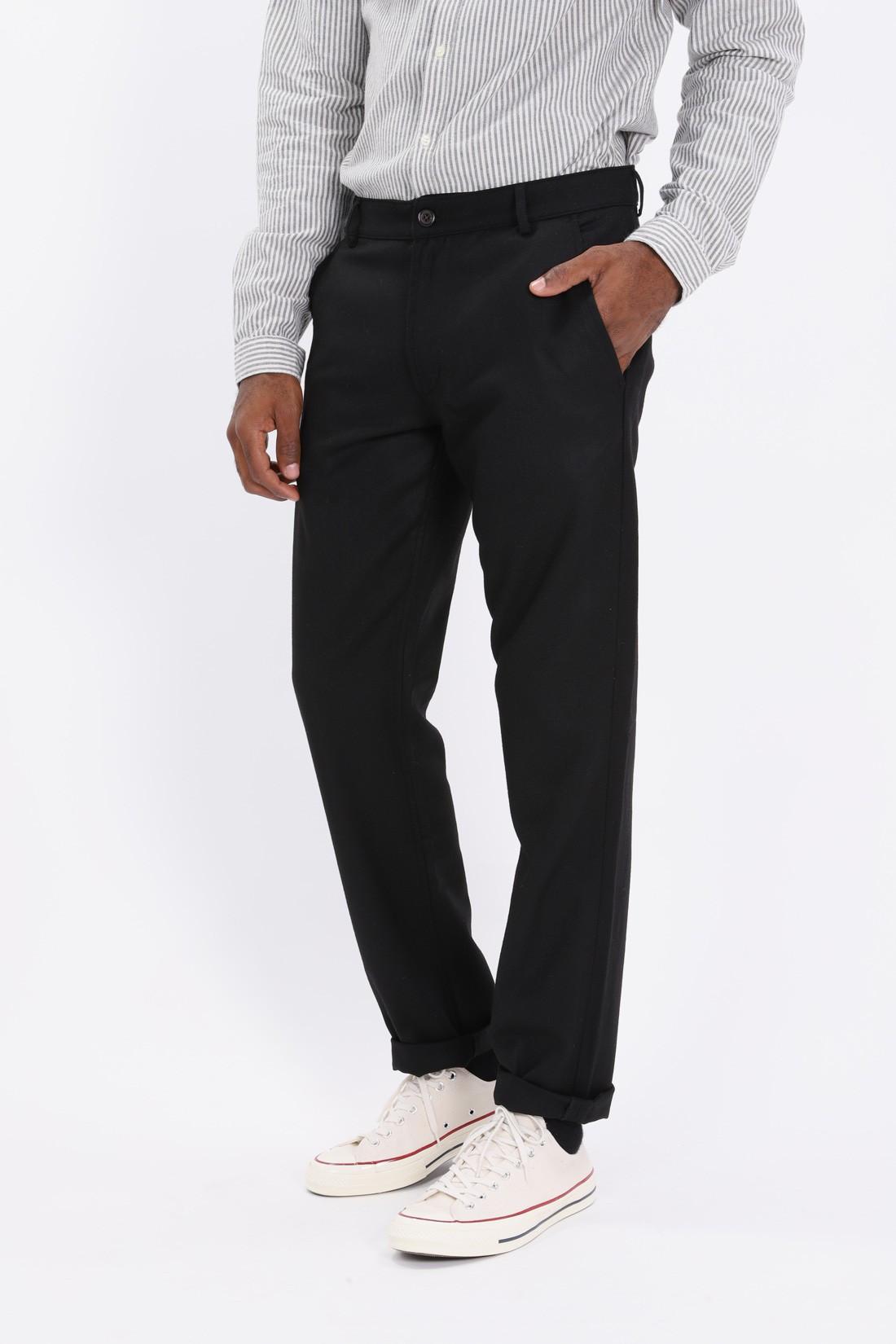 UNIVERSAL WORKS / Aston pant flannel Black
