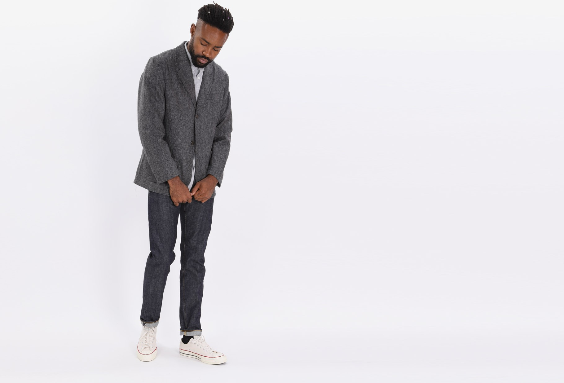 UNIVERSAL WORKS / Two button jacket Grey
