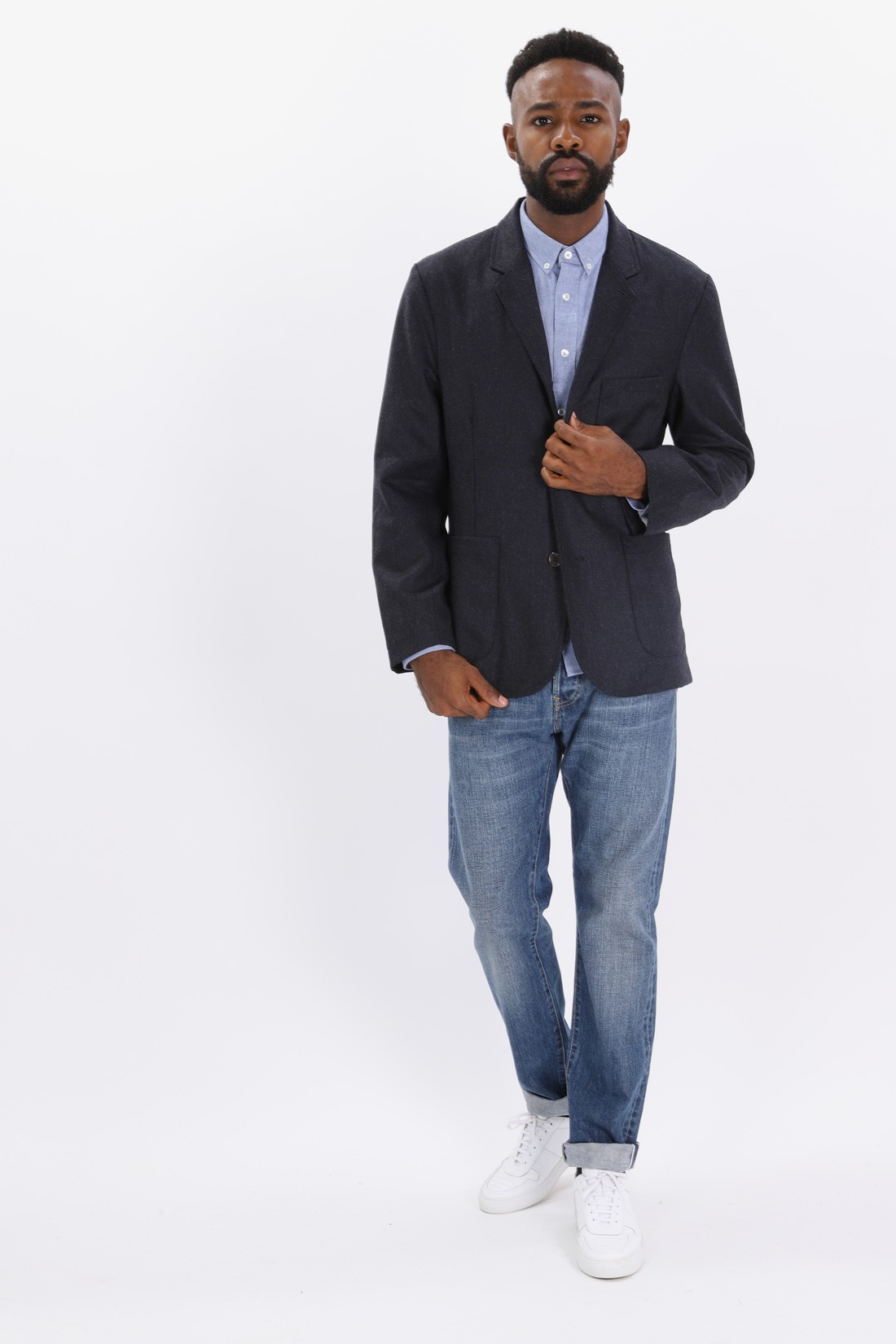UNIVERSAL WORKS / Suit jacket flannel Navy