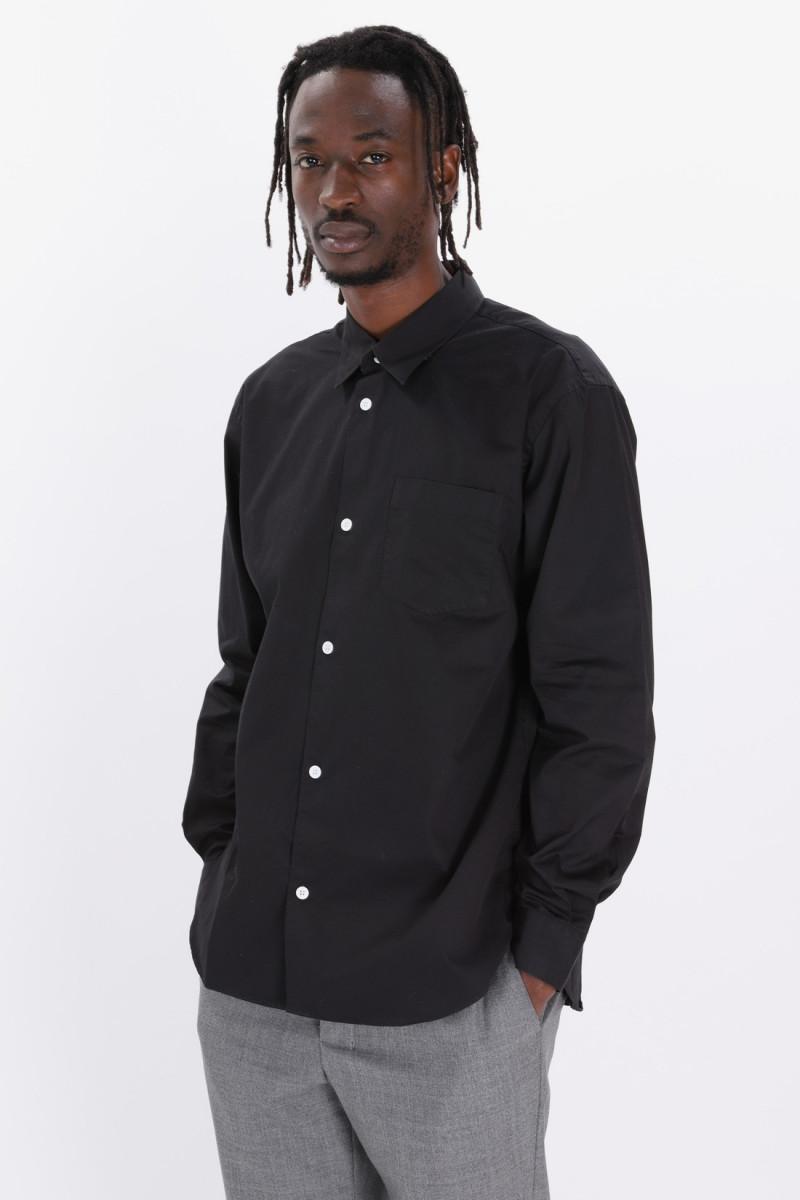 Pima cotton classic shirt Black