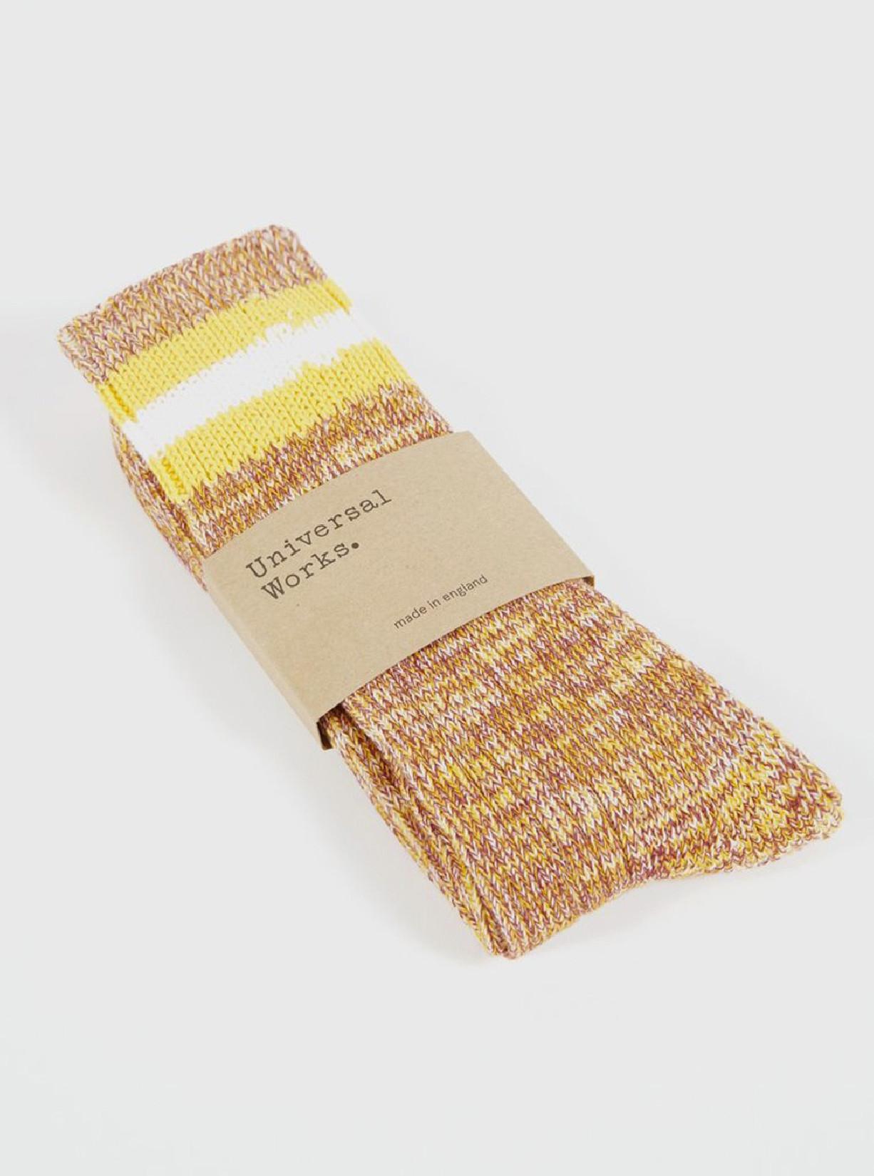 UNIVERSAL WORKS / Everyday stripe sock Yellow