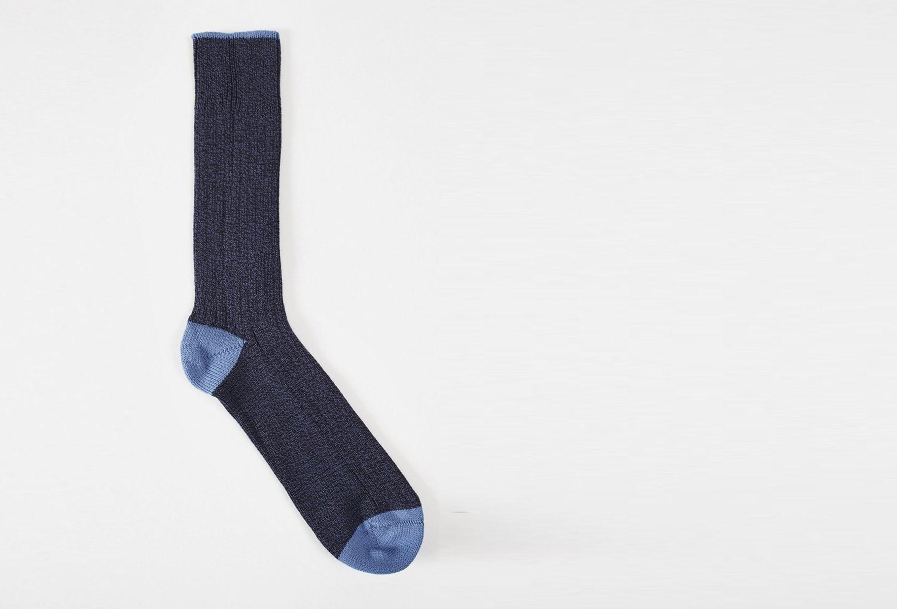 UNIVERSAL WORKS / Simple sock Navy