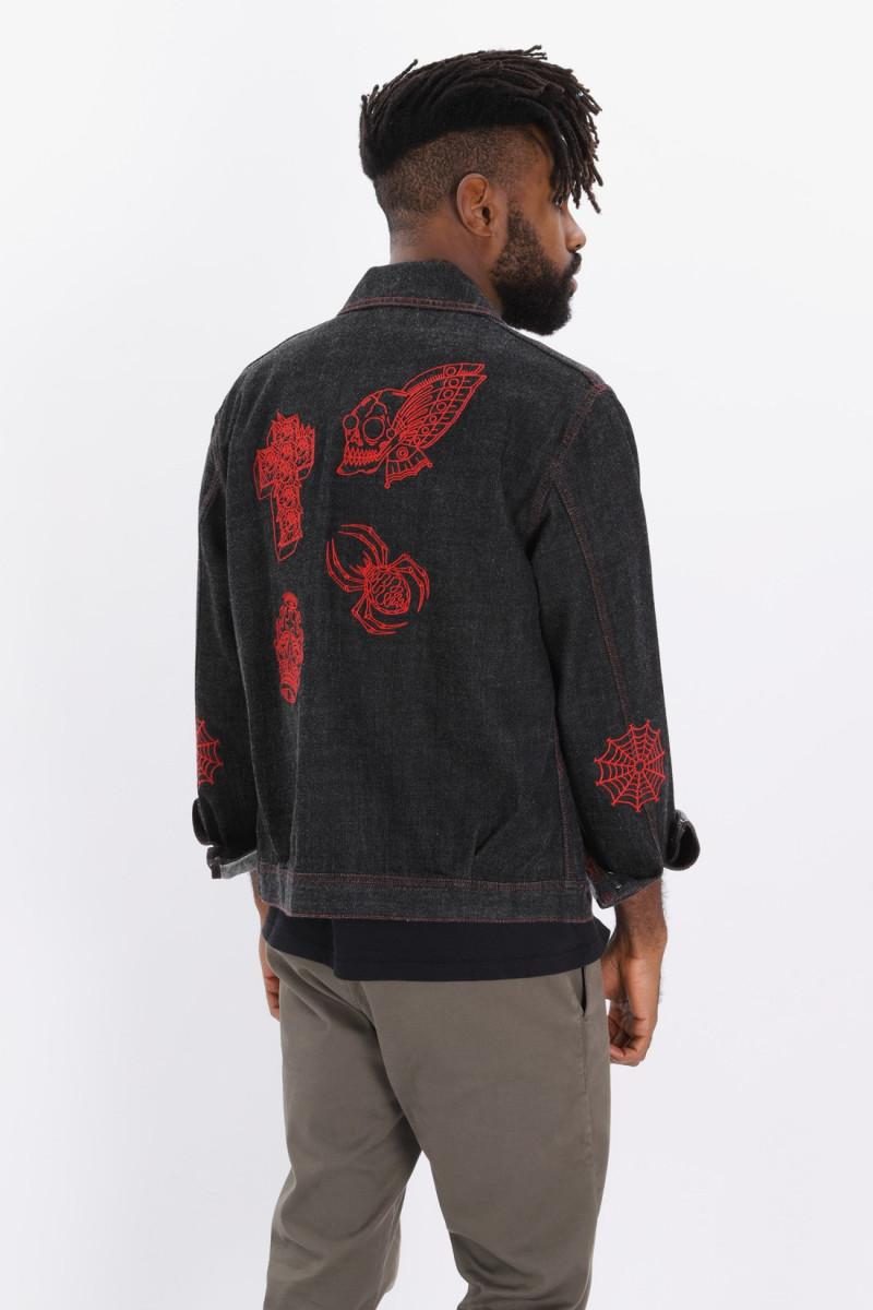 Oversized drizzler jacket Black rinsed