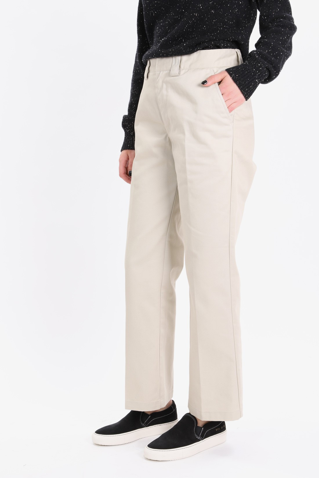 STUSSY FOR WOMAN / Reese wide pant Khaki