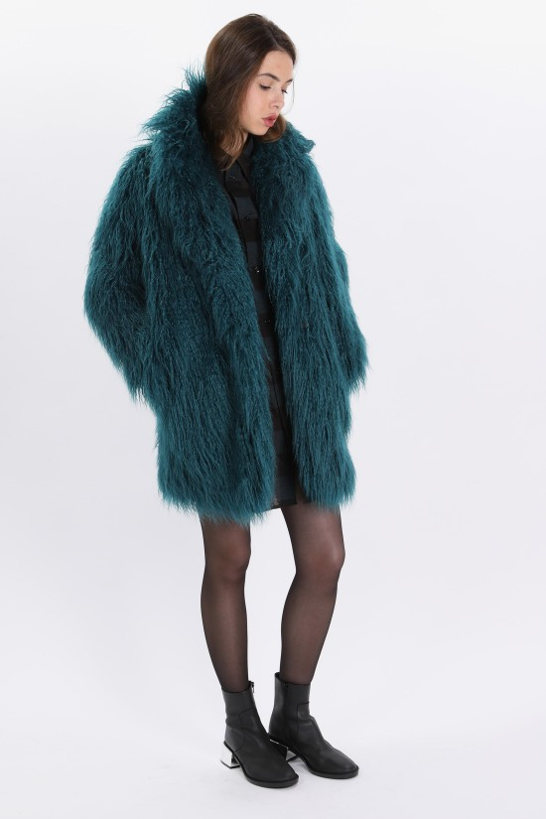 MM6 MAISON MARGIELA / Long hair coat Green