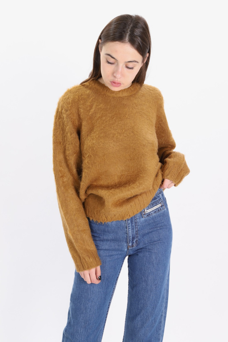 Vivian crew sweater Brown