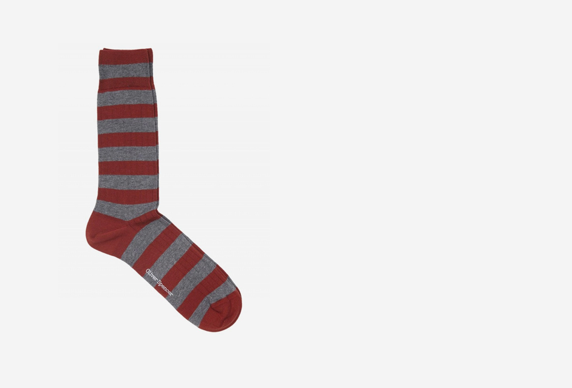 OLIVER SPENCER / Miller socks Red grey
