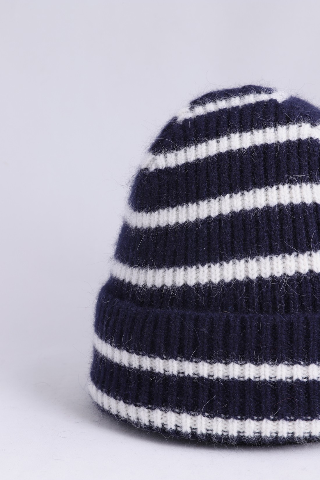 MACKIE / Striped barra hat Navy ecru