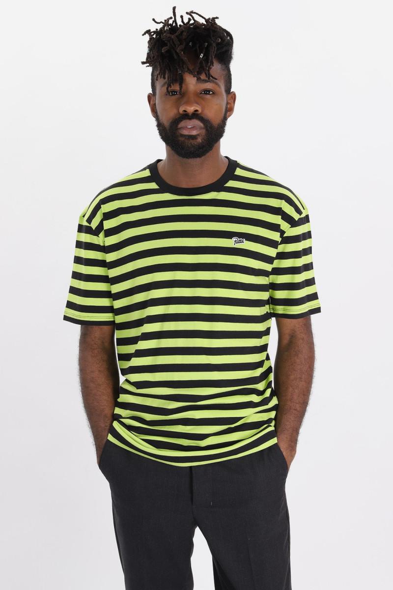 Striped tee-shirt Acid lime