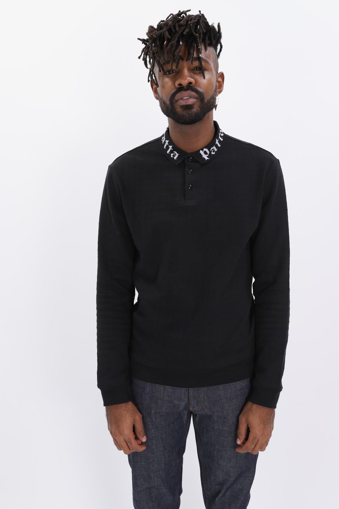 PATTA / Collar crewneck sweater Black