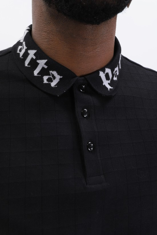 PATTA / Collar crewneck sweater Black