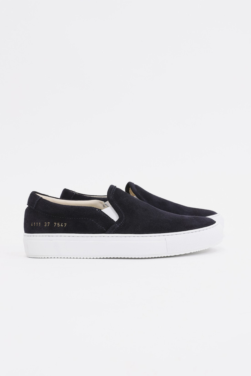 Slip on in suede 4111 Black 7547