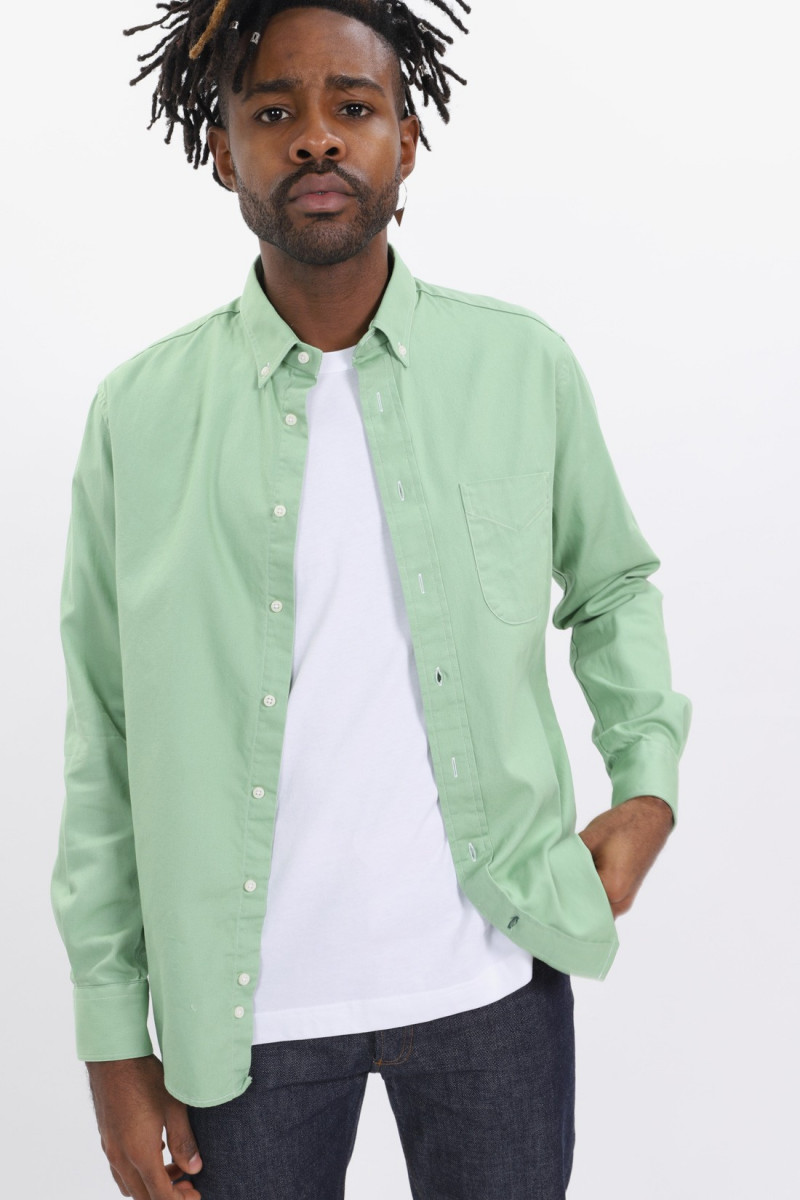 Oxford button down ls shirt Green