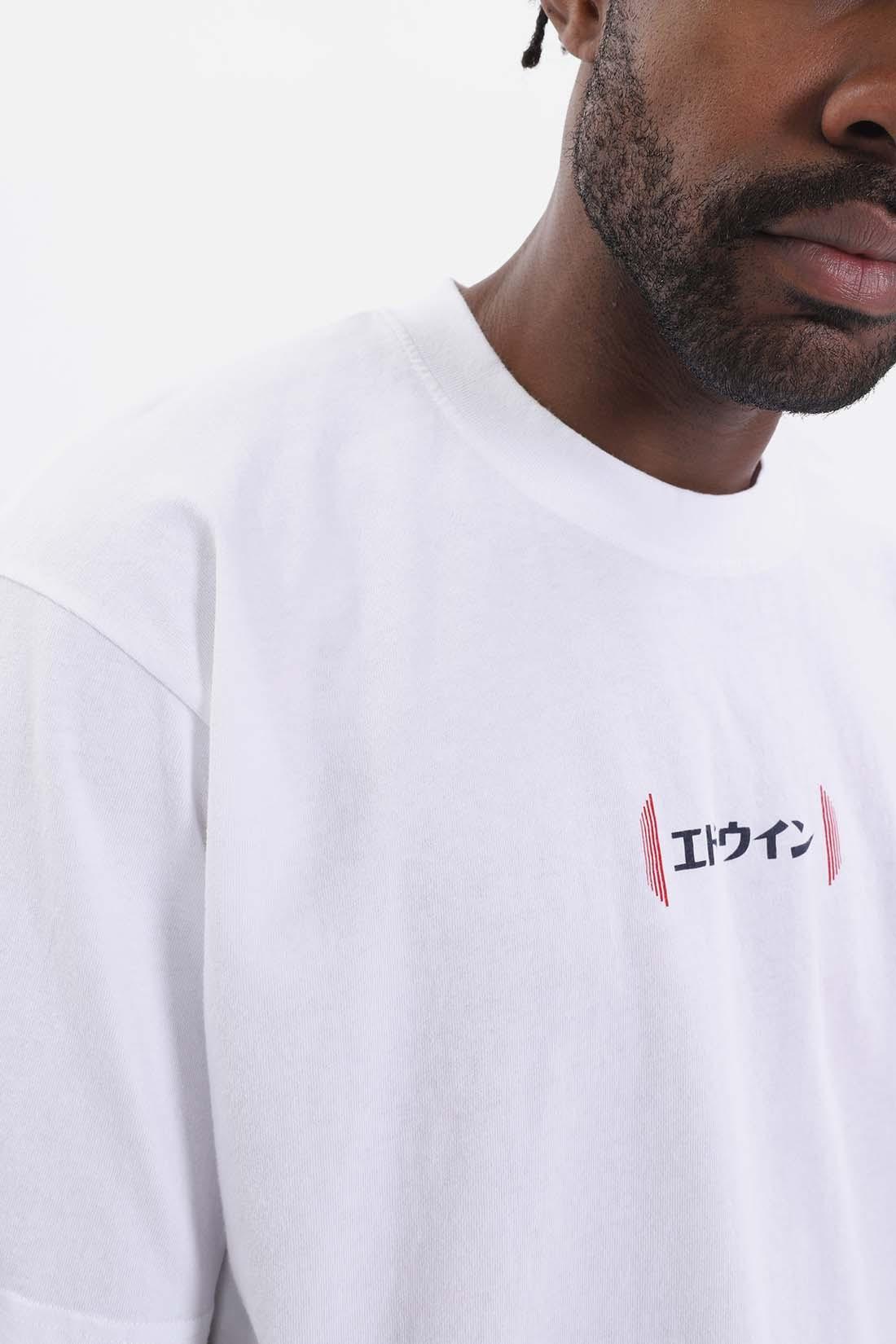 EDWIN / Aurora cotton t shirt White