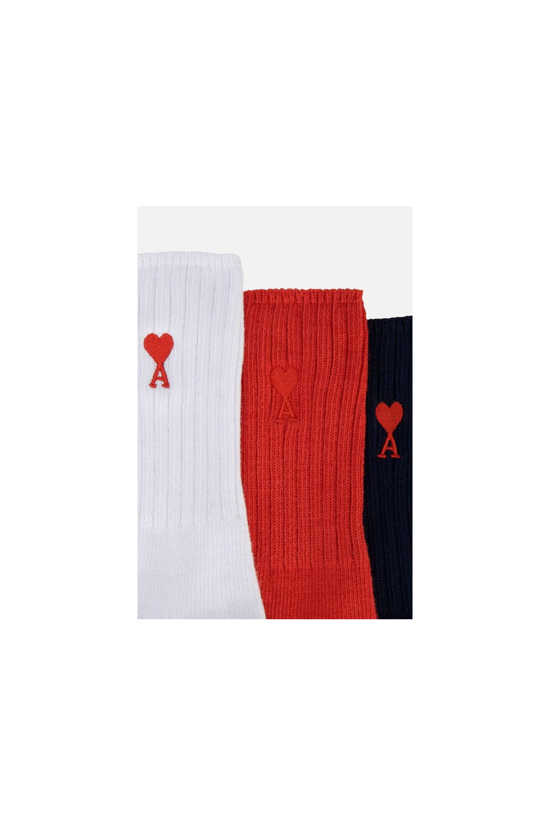 AMI / Chaussettes ami de coeur Bleu / blanc / rouge